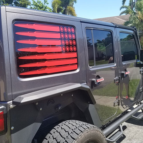 Sec10 Jeep Wrangler Perforated Stallion Rear Window Decal J130873 87 21 Jeep Wrangler Yj Tj Jk Jl